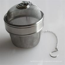 Boule de thé d'infuseur de thé de filtration de maille d'acier inoxydable