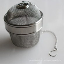 Esfera de chá de infusor de chá de filtragem de malha de aço inoxidável