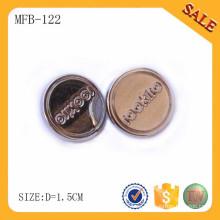 MFB122 Botones de resorte de costura de cúpula de moda para el abrigo de pieles Brillo
