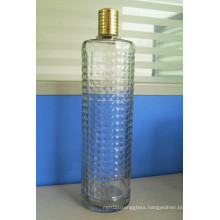 Glass Hair Oil Bottle With Plastic Cap