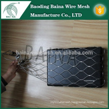 Stainless steel wire rope mesh hand woven basket/stainless steel metal mesh bag