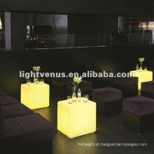 Iluminação esperta conduzida novidade da decoração da mobília da barra para a cadeira do cubo