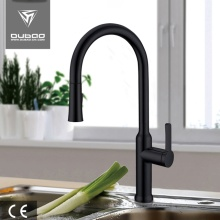 Matowy czarny Pulldown Kran Tap For Kitchen Sink