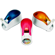 Warna-warni Manual Tape Dispenser dengan Dudukan klip magnetik