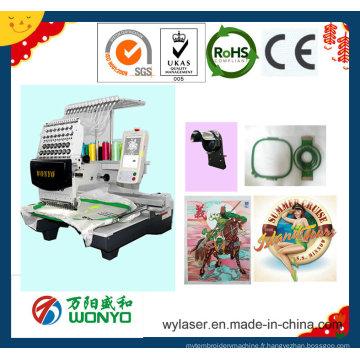 Machine de broderie à tête unique commerciale avec le meilleur prix Wy1201CS / 1501CS / 1201cl / 1501cl