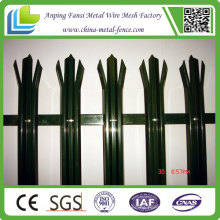 PVC Coated Metal Picket Palisade Fence for Low Price