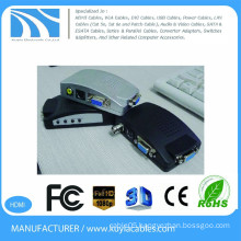 KUYIA PC to TV Converter VGA box to YPBPR PC Laptop AV S Video To VGA TV Converter Adapter Box