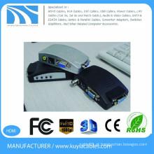 KUYIA PC para TV conversor caixa VGA para YPBPR PC Laptop AV S vídeo para VGA TV conversor adaptador caixa