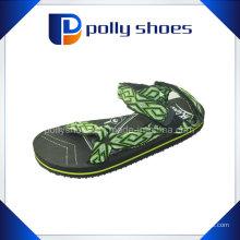 Новые дизайнерские ткани Мужские сандалии EVA Черный сандал
