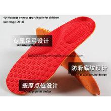Arco design 4d massagem confortável movimento esporte sapatos palmilha para crianças (ff628-2)
