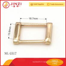 Sacs en or dorés brillants boucles de ceinture réversibles pour sacs accessoires