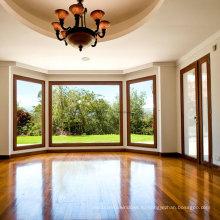 Новый дизайн Feelingtop Подгонянный Изолируя стекло окна залива алюминия для отель/ Вилла (фут-W70)