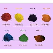 Paleta de colores pastel de neón activado por agua Pigmentos de óxido de hierro