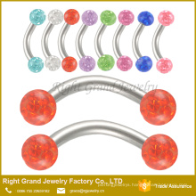 Fashion Crystal Barbell Eyebrow Ring