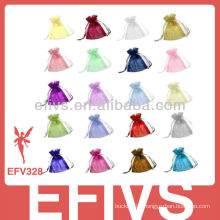 Colorful Beautiful Drawstring Jewelry Organza Bags Wholesale