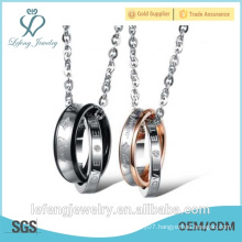 New arrival jewelry silver color 21mm ring necklace my love necklace love word necklace