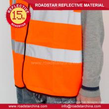 Reflexão de coletes de segurança amarelo fluorescente