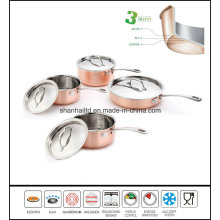 8PCS 3ply Body Copper Clad Cookware Set