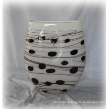 Gepunktetes Glas Vase