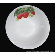 Navidad diseño patrón porcelana ensalada tazón