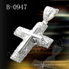 Colgante de plata de la cruz de la joyería de Hotselling 925