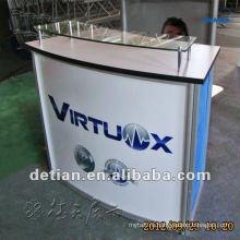 портативный офисный стол приема конструкции прием счетчик стол дизайн твердый поверхностный счетчик приема