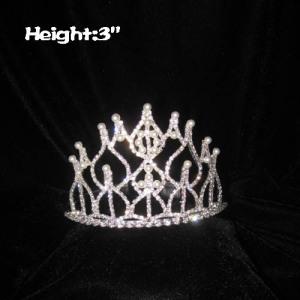 Coronas de perlas de cristal de 3 pulgadas de altura