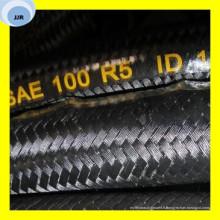 Tuyau couvert de textile de tresse de fil de SAE 100 R5 de haute qualité