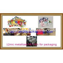 Термическое ламинирование Металлизированная полиэфирная пленка для упаковки пищевых продуктов и медикаментов