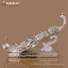 pavo real de la resina de la alta calidad de la decoración casera de guangzhou para la decoración de la boda