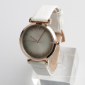 watch rose gold genuine leather strap, watch stainless steel back quartz