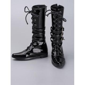 Botas altas masculinas pretas Rshoes 70-38 para 70cm BJD