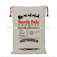 Bolsos de regalo de Navidad impresos personalizados sacos de Santa