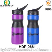 2017 la mejor botella de agua plástica libre del deporte de BPA de la venta, botella corriente plástica del deporte del PE (HDP-0661)