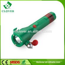 China con el martillo de seguridad de alta potencia 1W LED llevó linterna linterna de plástico