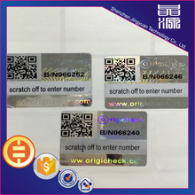 QR Code Label Sticker Hologram 3D anti-palsu