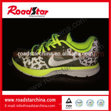 3D mesh coated reflective printed fabric for sports shoes