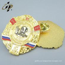 Chapa de solapa de metal insignia personalizada esmalte suave al por mayor sin mínimo