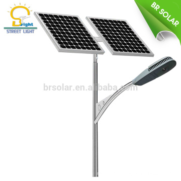 wholesale solar led street light with hot-dipped galvanized steel pole