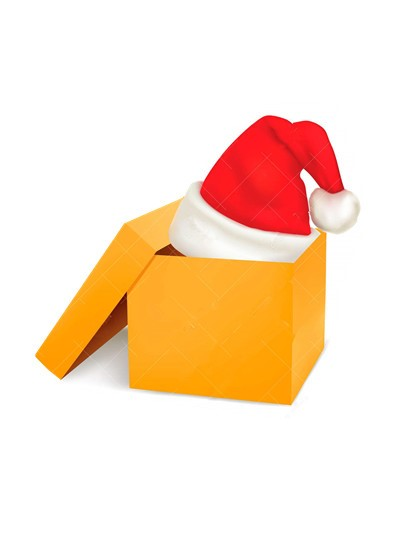 paper chrismas hat box