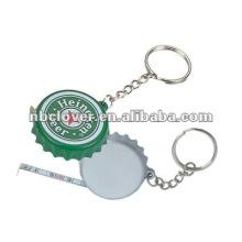 Runde Form Maßband mit Schlüsselring / Maßband / Maßband