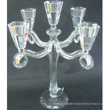 Clear Glass Candle Holder with Five Posters