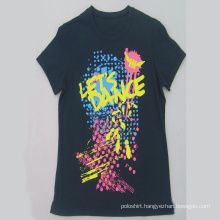 Promotional Top Quality 100% Cotton Two/Three Colors Printing T-Shirt