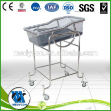 medical stainless steel hospital acrylic baby crib