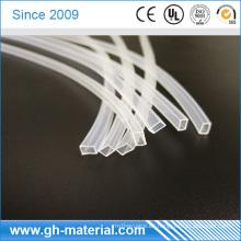 Tubo cuadrado de la manga del silicón del aislamiento para los zapatos del LED y la tira del LED