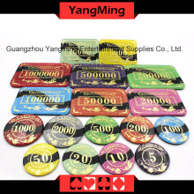 Anti-Counterfeiting Bronzing Poker Chip (YM-CP022-23)