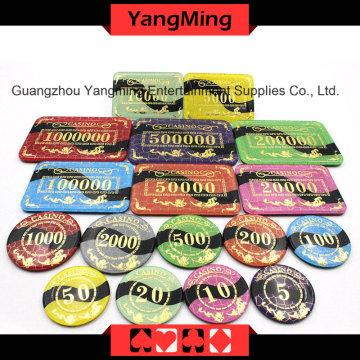 위조 방지 청동 포커 칩 (YM-CP022-23)