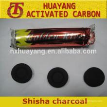 Long temps brûlant noix de coco narguilé shisha charbon de bois