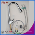 Pull-out Spray 3 Color LED Kitchen Sink Faucet (QH0760F)