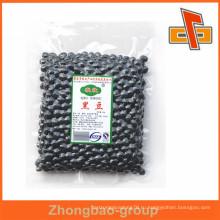 Упаковочные мешки для вакуумной упаковки высокого качества с возможностью повторной упаковки для упаковки соевых бобов или орехов черного цвета